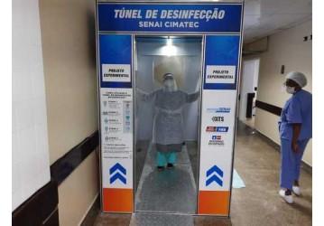 Três túneis de desinfecção são instalados em hospitais de Salvador