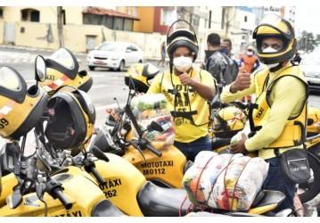 Prefeitura inicia entrega de cestas básicas a mototaxistas credenciados de Salvador